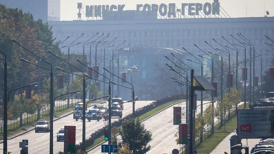 Кортеж Александра Лукашенко в центре Минска, 23 сентября 2020 года (кадр из видео)