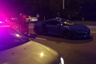 Последствия аварии с участием Audi R8 в Ростове-на-Дону, 11 октября 2017 года