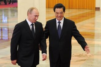 Владимир Путин и глава КНР Ху Цзиньтао