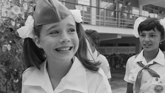 Американская школьница Саманта Смит в пионерском лагере «Артек», 1983 год