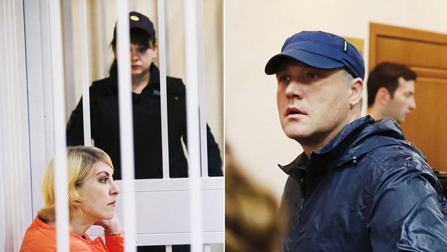 Подсудимая Ольга Алисова и отец сбитого мальчика Роман Шимко