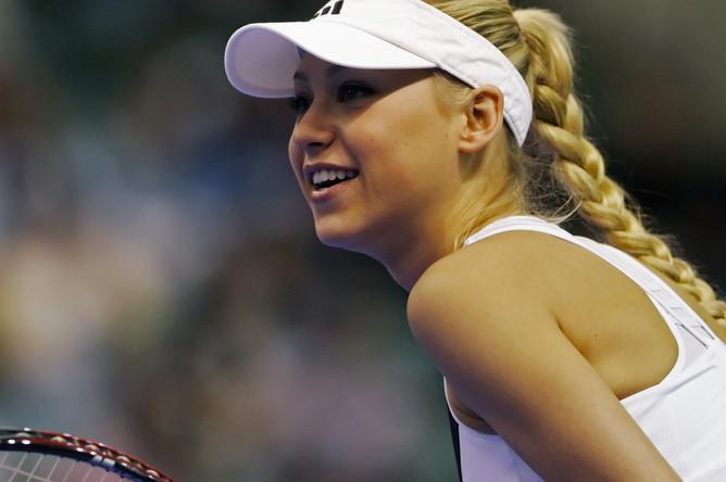 Анна Курникова во время игры, 2006 год