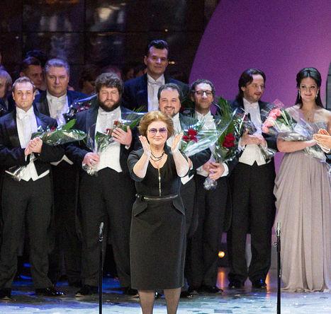 Хормейстер Наталья Попович на премьере гала-концерта «Viva Verdi!», 2013 год