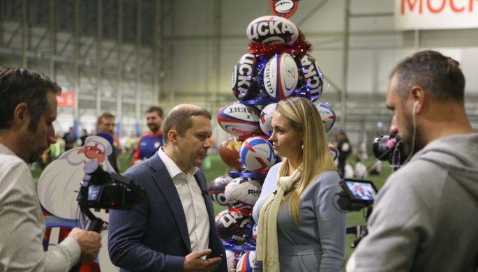 Эпизод матча Грузия — Россия на чемпионате Европы по регби