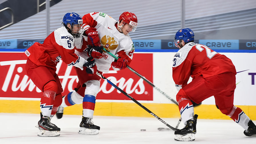 эпизод матча Россия- Чехия на МЧМ-2021