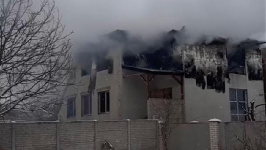 Ситуация на месте пожара в Харькове, 21 января 2021 года (кадр из видео)