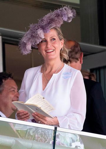 Софи, графиня Уэссекская на скачках Royal Ascot, 2021 год