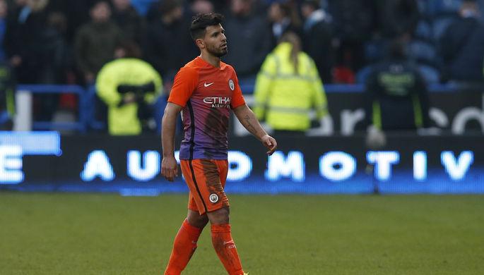 Главная ударная сила «Манчестер Сити» нападающий Серхио Агуэро