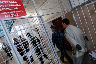 Во время голосования на выборах президента РФ на избирательном участке №382 в СИЗО №1 по Калининградской области, 18 марта 2018 года
