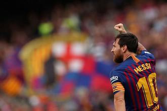 Нападающий «Барселоны» Лионель Месси