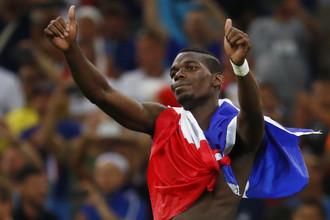 Поль Погба во время чемпионата Европы по футболу