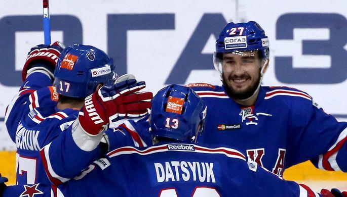 Шайба Дацюка в овертайме принесла СКА победу над «Северсталью» в плей-офф КХЛ