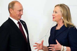 Владимир Путин и Хиллари Клинтон, 2012 год