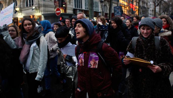 Демонстрация в честь Международного женского дня в Париже, Франция, 8 марта 2018 года