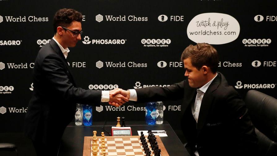 Карлсен и Каруана сыграли вничью в шестой партии матча за шахматную корону