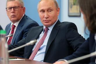 Владимир Путин на встрече с руководителями российских печатных СМИ и информационных агентств, 11 января 2018 года