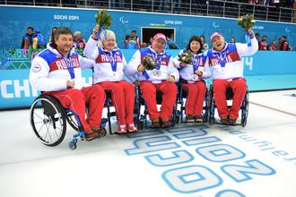 Паралимпийская сборная России по керлингу на колясках — серебряные призеры Сочи-2014