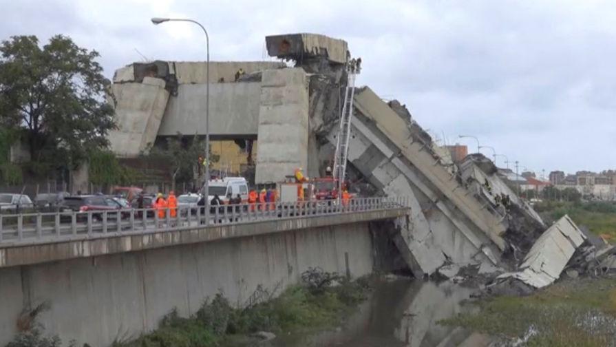 Число погибших при обрушении моста в Генуе возросло до 35