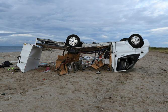 Последствия урагана на полуострове Халкидики в Греции, 11 июля 2019 года