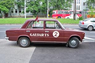 Латвийцы приехали в Братиславу на ВАЗе