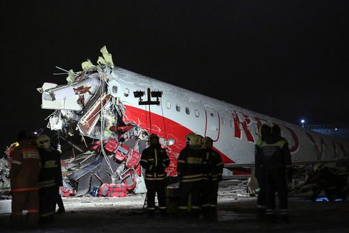 видеокадры авиакатастрофы во Внуково
