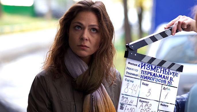 Актриса Елена Лядова на съемках сериала «Измены»