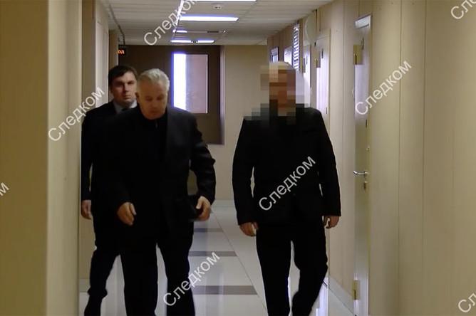 Экс-губернатор Хабаровского края Виктор Ишаев во время задержания, 28 марта 2019 года