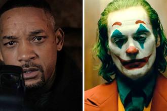Кадры из фильмов «Гемини» (2019) и «Джокер» (2019)