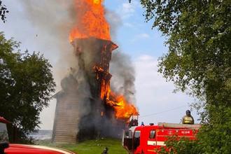 Пожар в Церкви Успения Божией Матери в Кондопоге, 10 августа 2018 года