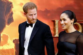 Меган Маркл и принц Гарри на премьере «Короля Льва» в Лондоне, 14 июля 2019 года