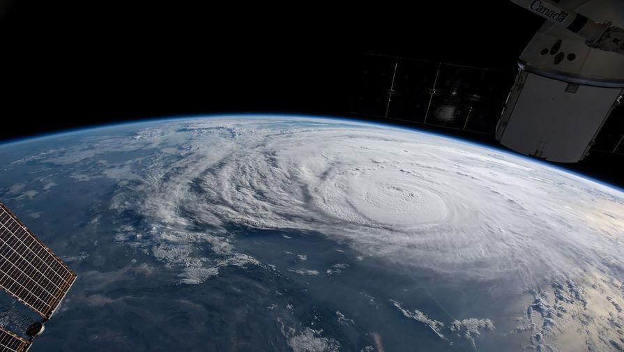 Ураган «Харви» на снимке из космоса, 25 августа 2017