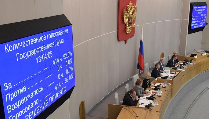 Голосование в Госдуме по закону о «СМИ-иноагентах», 15 ноября 2017 года
