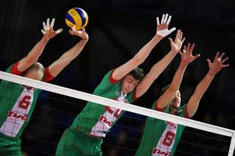 Волейболисты новосибирского «Локомотива»