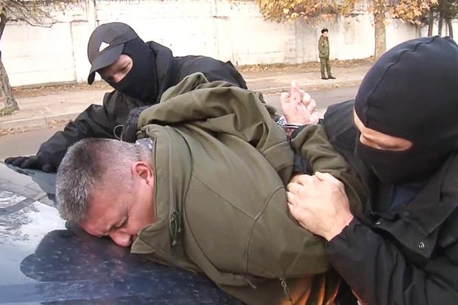 Задержанный сотрудниками ФСБ член диверсионно-террористической группы