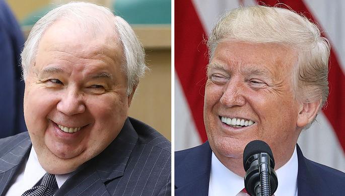 Экс-посл России в США Сергей Кисляк и президент США Дональд Трамп (коллаж)