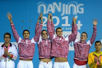 Пловцы российской сборной стали чемпионами юношеской Олимпиады в эстафете
