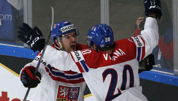 Сборная Чехии встречается с Белоруссией на чемпионате мира по хоккею