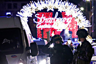 Полиция на месте стрельбы в Страсбурге, 11 декабря 2018 года