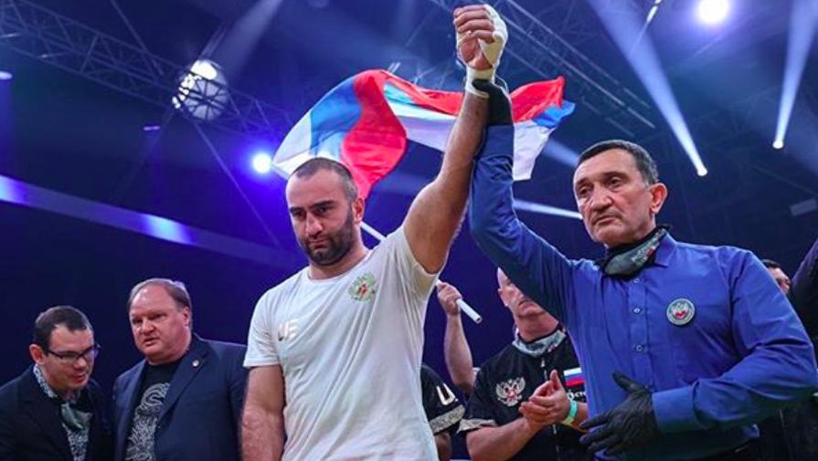 Мурат Гассиев после победы над Нури Сефери