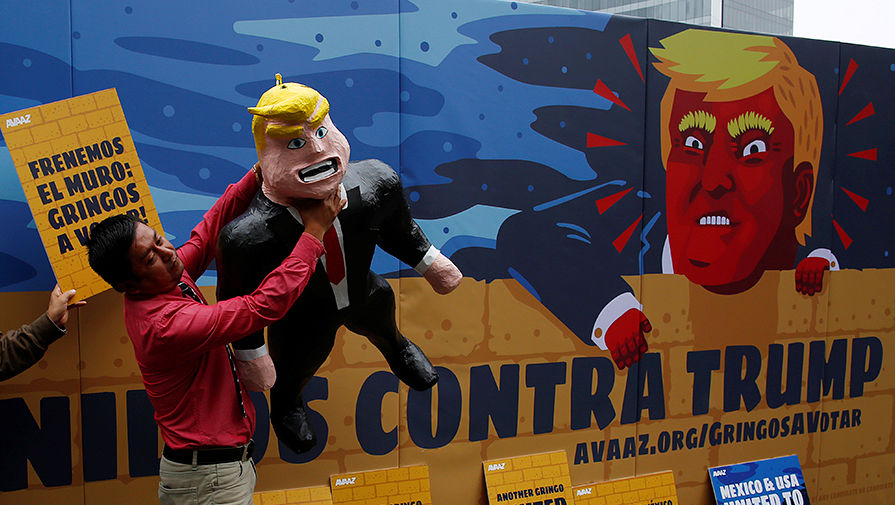 Акция против кандидатуры Дональда Трампа в Мехико, сентябрь 2016 года