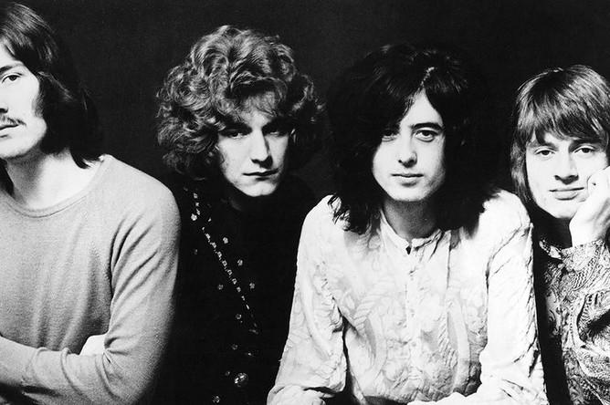 Led Zeppelin, 1968 год. Слева направо: Джон Бонэм, Роберт Плант, Джимми Пейдж, Джон Пол Джонс