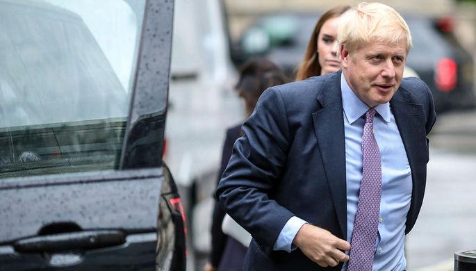 Борис Джонсон перед началом теледебатов в Лондоне, 18 июня 2019 года