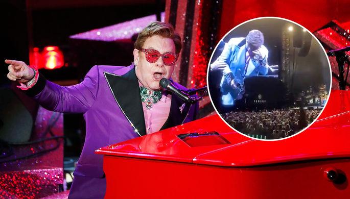 Не сдержал слез: Элтон Джон прервал концерт из-за пневмонии