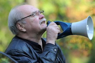 Владимир Бортко на съемочной площадке, 2010 год