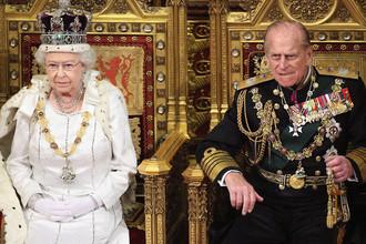 Королева Елизавета II и принц Филипп в Лондоне, 2012 год