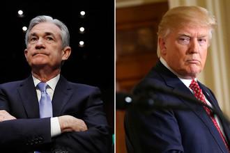 Новый глава ФРС Джером Пауэлл и президент США Дональд Трамп