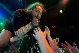 Выступление Post Malone на фестивале в Парк-Сити, штат Юта, январь 2018 года
