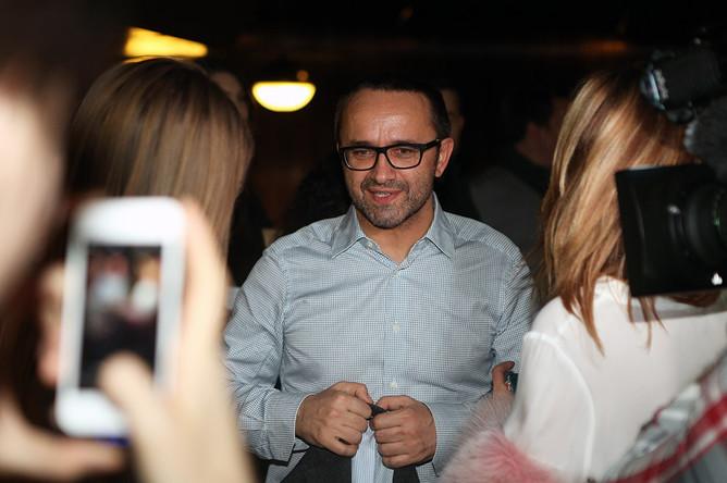 Кинорежиссер Андрей Звягинцев на премьере фильма «Левиафан» в кинотеатре «Москва»