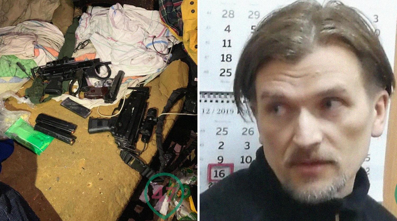 Брали полковника ГРУ - педофила, а нашли у него тир и схрон оружия. (фото)