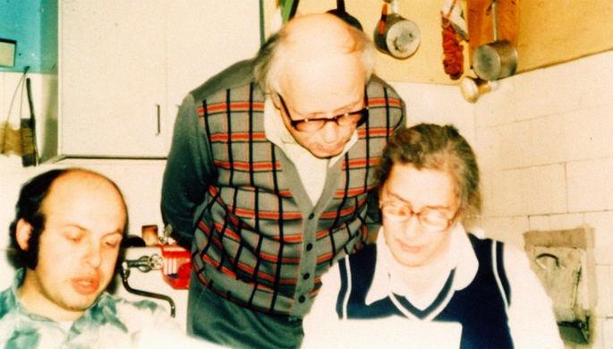 Анатолий Щаранский, Андрей Сахаров и Елена Боннэр в московской квартире, 1976 год